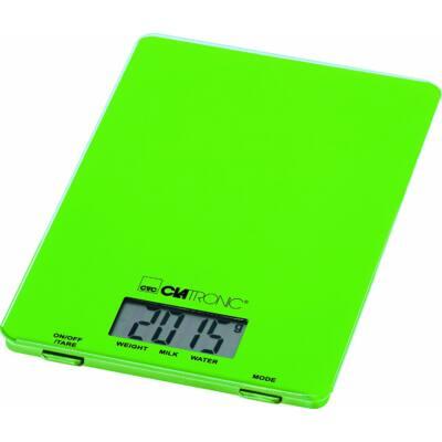 Clatronic KW3626 digitális konyhai mérleg - ZÖLD, 5kg-ig