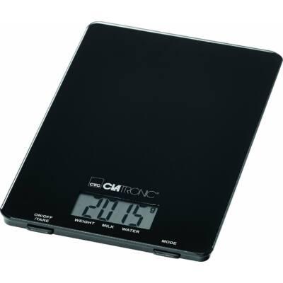 Clatronic KW3626 digitális konyhai mérleg - FEKETE, 5kg-ig