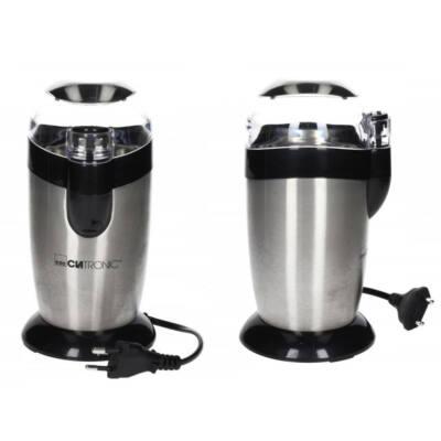 Clatronic KSW3307 inox kávédaráló, max.40g kávébab, 120W